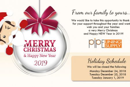 Pipe Lining Supply – Holiday Hours