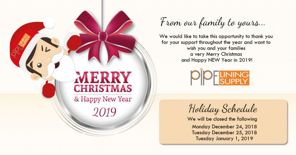 Pipe Lining Supply Holiday Hours