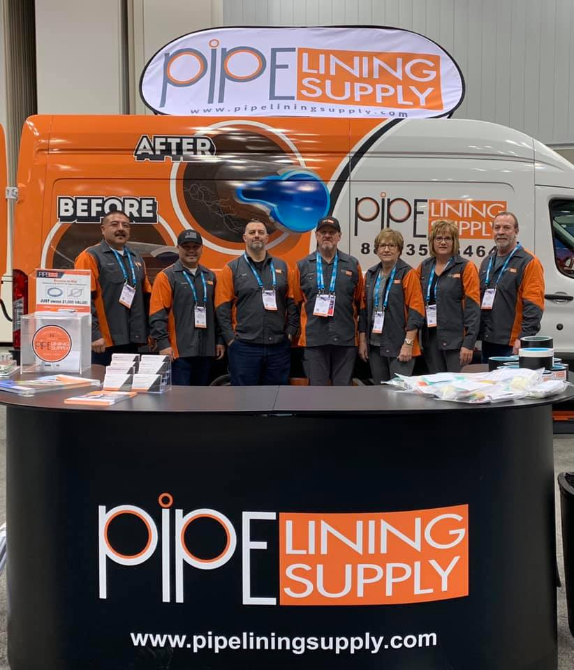 Pipe Lining Supply.  Just a few of our great team members!